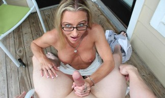chrissy ann milking her husband's dick