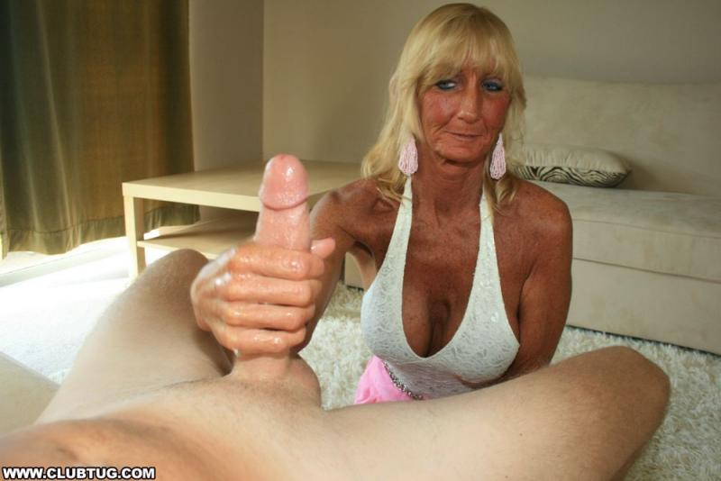 Old blonde handjob consider