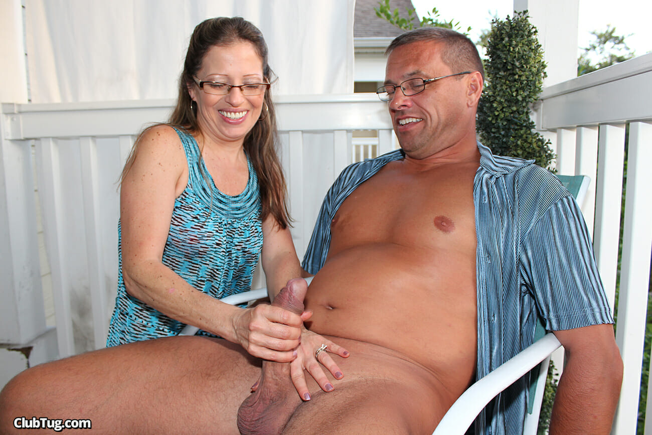 Jerk off on wife