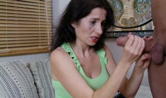 milf tatiana crying handjob