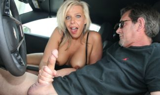 Carey Riley car handjob