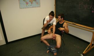 Cheyenne Jewels gives her student a handjob in front of the whole class