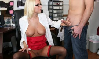 Riley Evans starts to jerk off a young stud