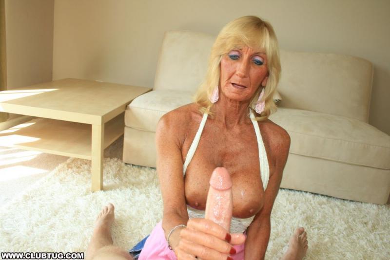grandma giving a sensual handjob