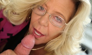 Karen Summers tugging big cock