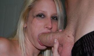 Jenni sucking cock