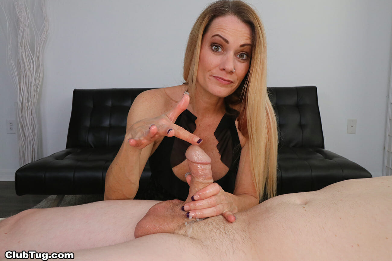 Allura Skye giving an edging handjob