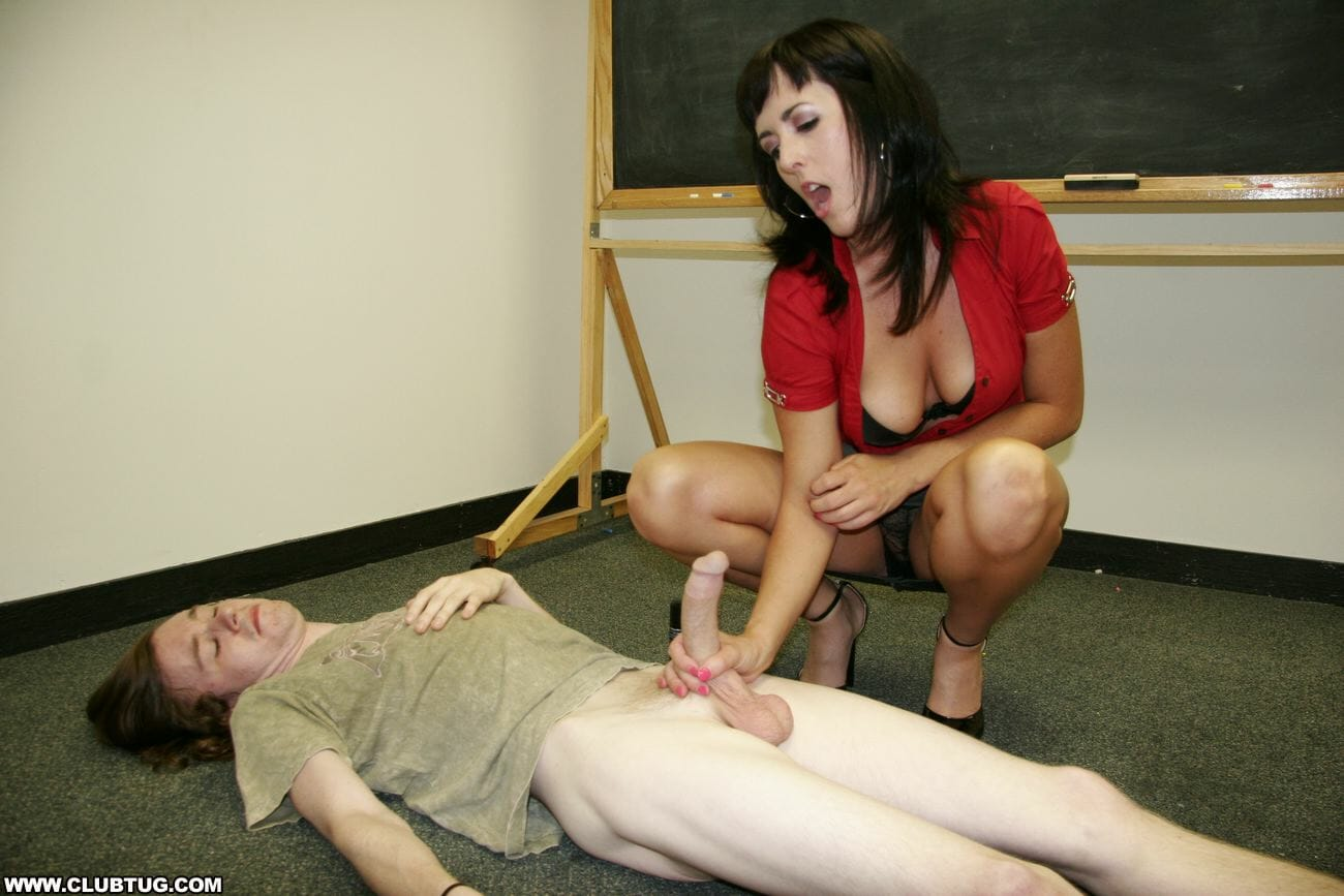 Mrs comet jerking off her student