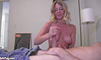 Milf Harley Summers giving a pov handjob