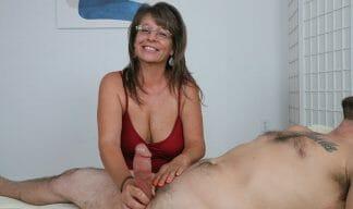 Cougar Jules pov handjob porn