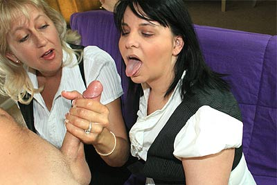Grannys Make Big Cock Jizz - April 17