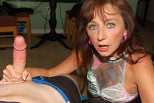 Horny Aunt Ciara Gets Down And Jerk Off Big Cock - Picture 10
