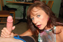 Horny Aunt Ciara Gets Down And Jerk Off Big Cock - Picture 11