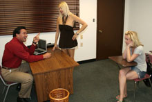 Hot Mom Dallas Teaches Her Teen Daughter Ericka The Art Of Blowjob - Picture 2