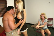 Hot Mom Dallas Teaches Her Teen Daughter Ericka The Art Of Blowjob - Picture 4