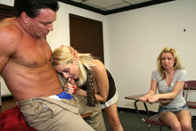 Hot Mom Dallas Teaches Her Teen Daughter Ericka The Art Of Blowjob - Picture 5