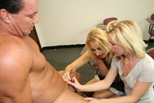 Hot Mom Dallas Teaches Her Teen Daughter Ericka The Art Of Blowjob - Picture 6