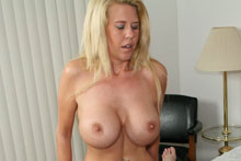 Blonde Milf Grace Jacking Off Big Cock Until It Spurts On Her Face And Big Boobs - Picture 6