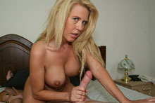 Blonde Milf Grace Jacking Off Big Cock Until It Spurts On Her Face And Big Boobs - Picture 9