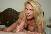 Blonde Milf Grace Jacking Off Big Cock Until It Spurts On Her Face And Big Boobs - Picture 12