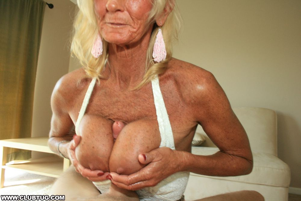 Big tit granny handjob right! seems