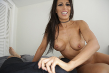 Busty Milf Stroking Big Dick While Talking Dirty - Picture 4