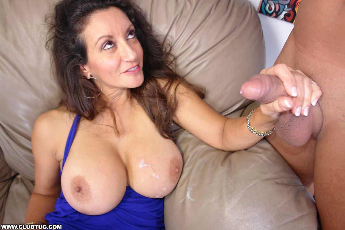 Big mature tits with cum-7914