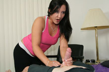 Teen Slut Sara Stroking Big Cock Til It Exploded With Jizz - Picture 2
