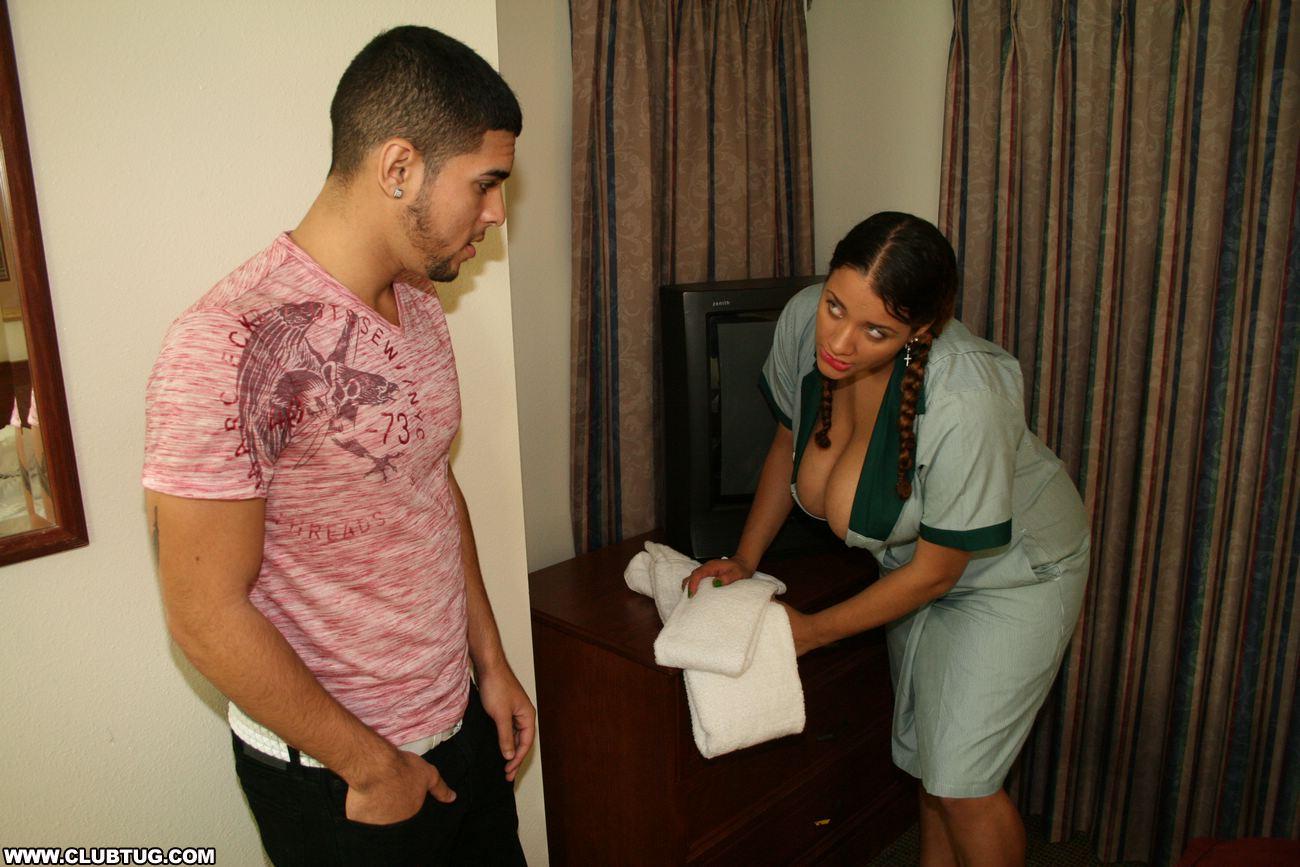 Something Naked gif latina maid