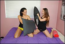 Zoe Rae And Gina Stroke A Big Cock At Clubtug - Picture 3