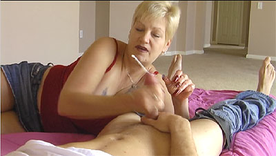3 Caught Jerking Off By Stepmom   GRANNY GETS CUM BLASTED!