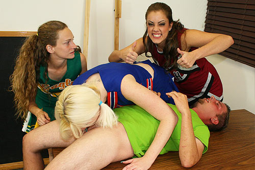 All clear, Cheerleader giving a hand job agree