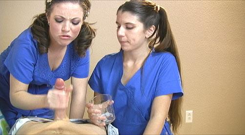 Hand job from nurse speaking