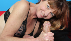 1 Handjob Movies - Naughty milf Dee jacking off a man all wrapped up