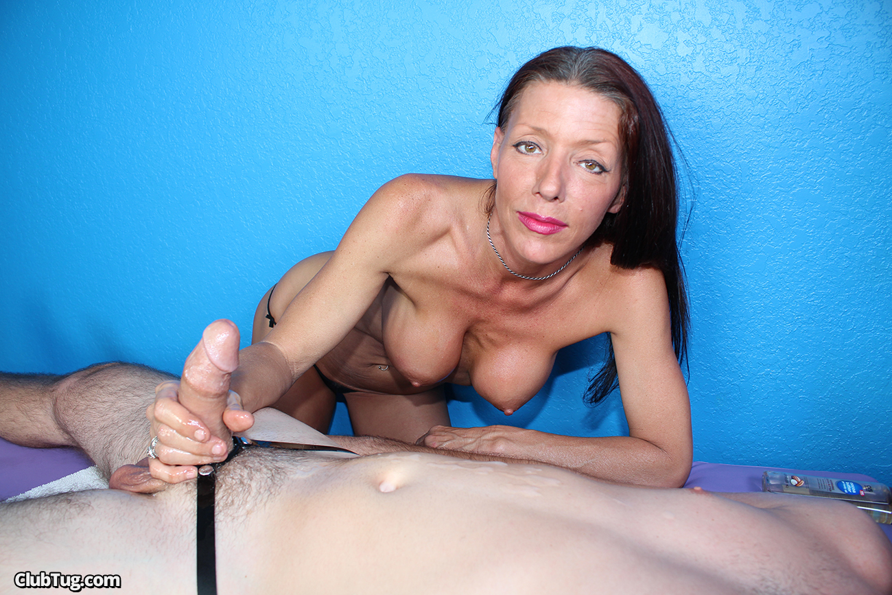 Wife riding first time dildo