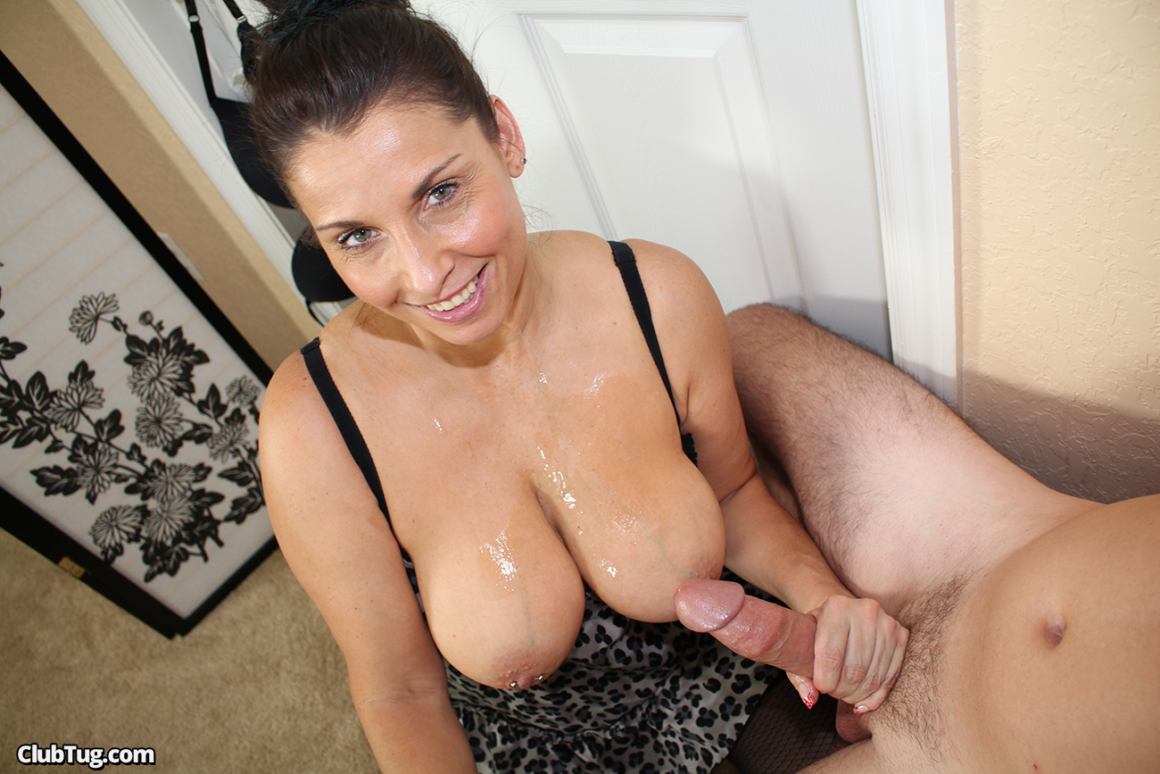 Cums on stepmoms tits excellent