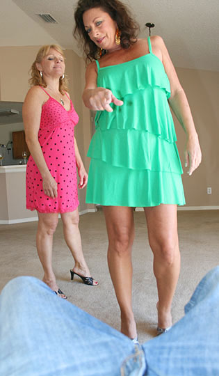 horny housewives check out their neighbor